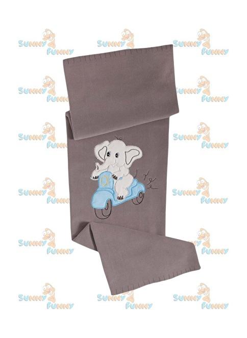 Sunny Funny  Sevimli Fil Kahverengi Nakışlı Bebek Poları Kahve